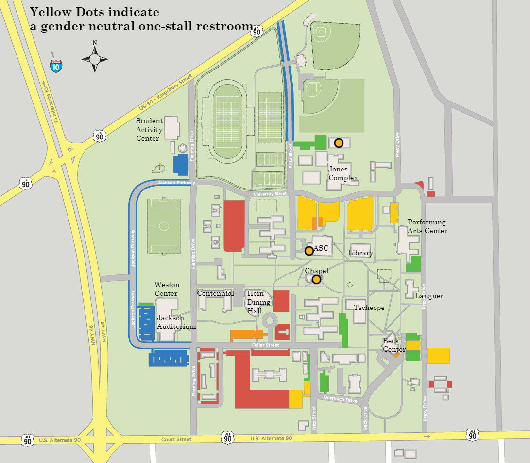 Pacific Lutheran University Campus Map.Lgbt Student Resources Student Life My Tlu Edu